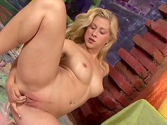 Messy Fun With Horny Blonde