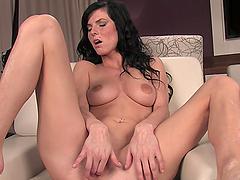 Provocative masturbation video with hot chick