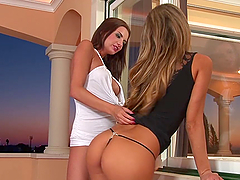 Horny Babes Have Fun Playing With One Another's Wet Pussies