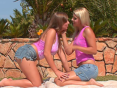 Outdoors Lesbian Scene With Kinky Ladies