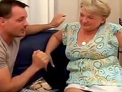 Blonde Granny Sucks And Fucks A Big Cock
