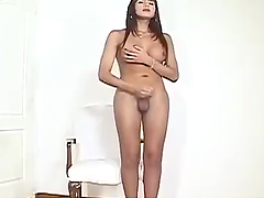 Horny Tranny Fucks A Bald Guy After Sucking His Dick
