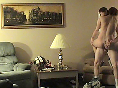 Rough Sex In The Living Room With A Kinky Couple