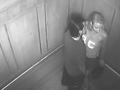 Horny Couple's Caught Fucking Hard In An Elevator By Hidden Camera