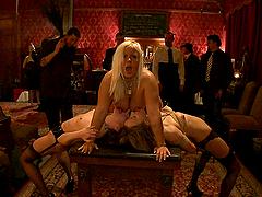 Gorgeous Blonde Sex Slave in Bondage Sex Vid