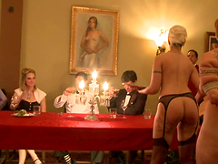 Perverted Dinner with Sex Slaves