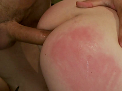 Ass spanked and asshole stuffed!!!