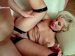 Rough Anal Sex For A Horny Blonde Mature