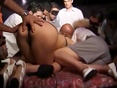 Gangbang Action Leaves Mature Blonde With A Seriously Messy Facial