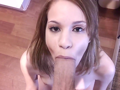 An Amazing Blowjob From A Naughty Teen In A POV