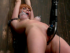 Redhead cutie is a fucking bondage whore