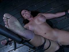Busty chick loves Bondage's intense emotions