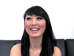 Gorgeous Asian Brunette Sucks Dude Off & Swallows Jizz