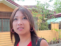 Asian Slut gets Creampie after Blowjob & Hardcore Fuck