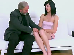 Chick gets fucked by old man in front of her boyfriend