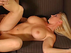 Hot Blonde's Fucked Silly By A Big Cock After Showing Her Amazing Ass