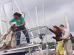 Rough Sex Over Seas On The Deck Of A Boat With A Slutty Redhead Teen