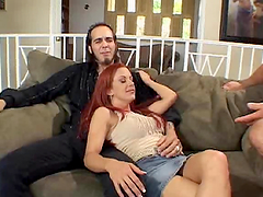 Redhead milf wife fucked as husband watches