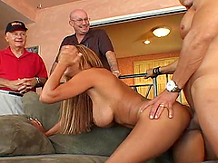 Wife fucks other men and husband watches it go down
