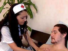 Lucky Patient Fucks A Smoking Hot Brunette Nurse