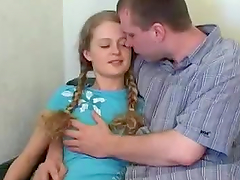 Cock rider hottie with pigtails sucks on a big cock