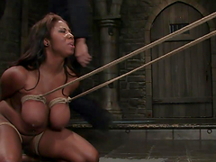 Big titty ebony bound & water tortured