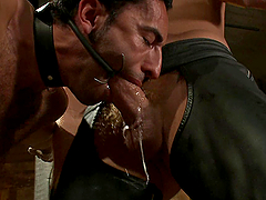 Kinky bondage sex with a couple of dudes