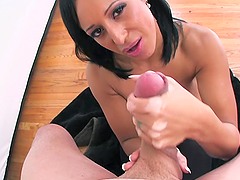 Smoking Hot Milf Gives Lucky Guy A Blowjob In POV