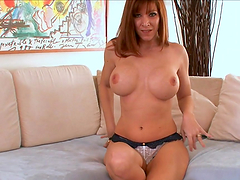 POV blowjob by cock sucker MILF with big tits