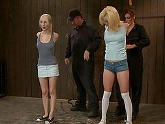 Chicks gettin' fisted in BDSM scene