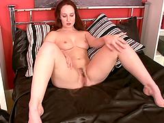 Horny redhead mom masturbates and makes you horny as she does