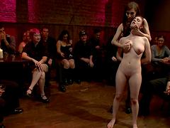 Big titty slut bound & fucked hard