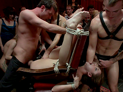 Extreme & public bondage sex