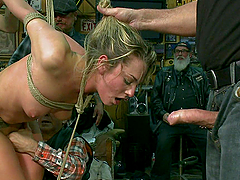 Public humiliation and pleasure for the sexy Bailey Blue