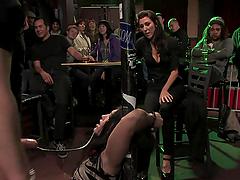 Brunette slut gets toyed and abused in BDSM video