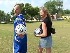 Christina Skye takes a ride on a soccer player's big cock