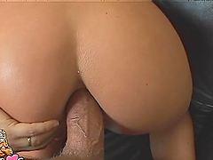 Bitch gets her tight asshole stuffed with hard dick