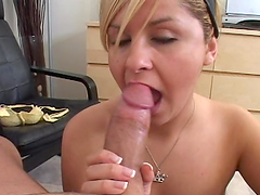 Slut gives head till the cum is out!