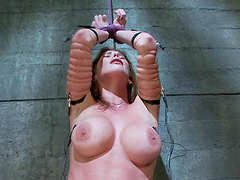 Hardcore BDSM scene with electro sluts