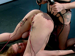 Double electric penetration with dirty electro whore!