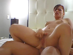Slutty bitch gives head and gets nailed!