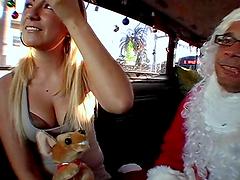 Blonde bitch gets her gash stuffed hard