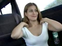 Slutty bitch gives head & gets stuffed