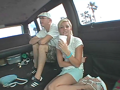 Bang bus fuck with a slutty blonde