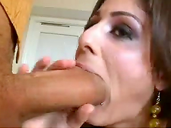 Sexy babe cums all over Ramon's monster cock as she's fucked