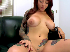 Tattooed bitch with big tits gets nailed!!!