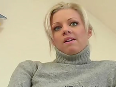 Blondie gets her pussy licked & fucked hard