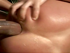Sexy Brazilian babe's nailed by a big dick outdoors