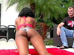 Hardcore sex with hot ebony slut