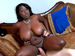 An intense hardcore scene with thick ebony babe Luxury Amore